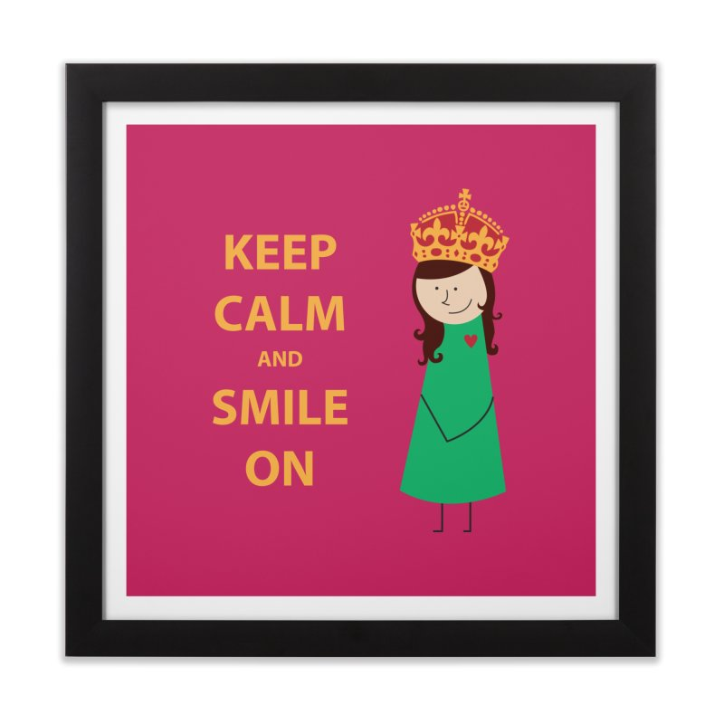Smile On Home Framed Fine Art Print by {mostly} Smiling Sticks