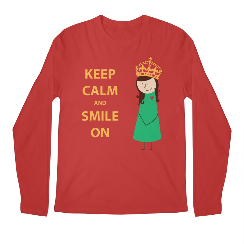 Smile On Men's Longsleeve T-Shirt by {mostly} Smiling Sticks