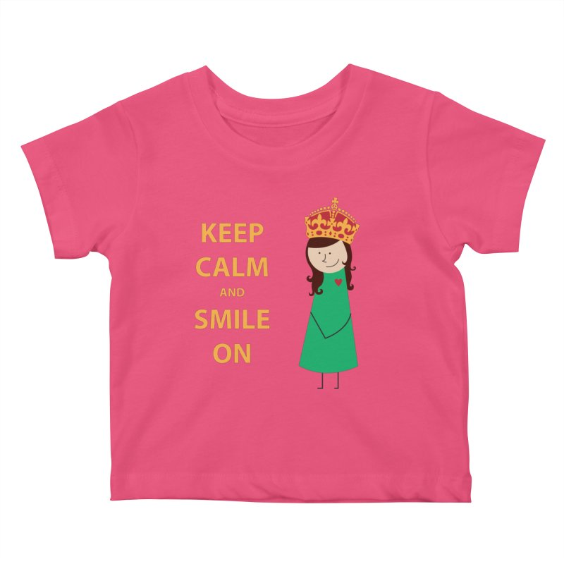 Smile On Kids Baby T-Shirt by {mostly} Smiling Sticks