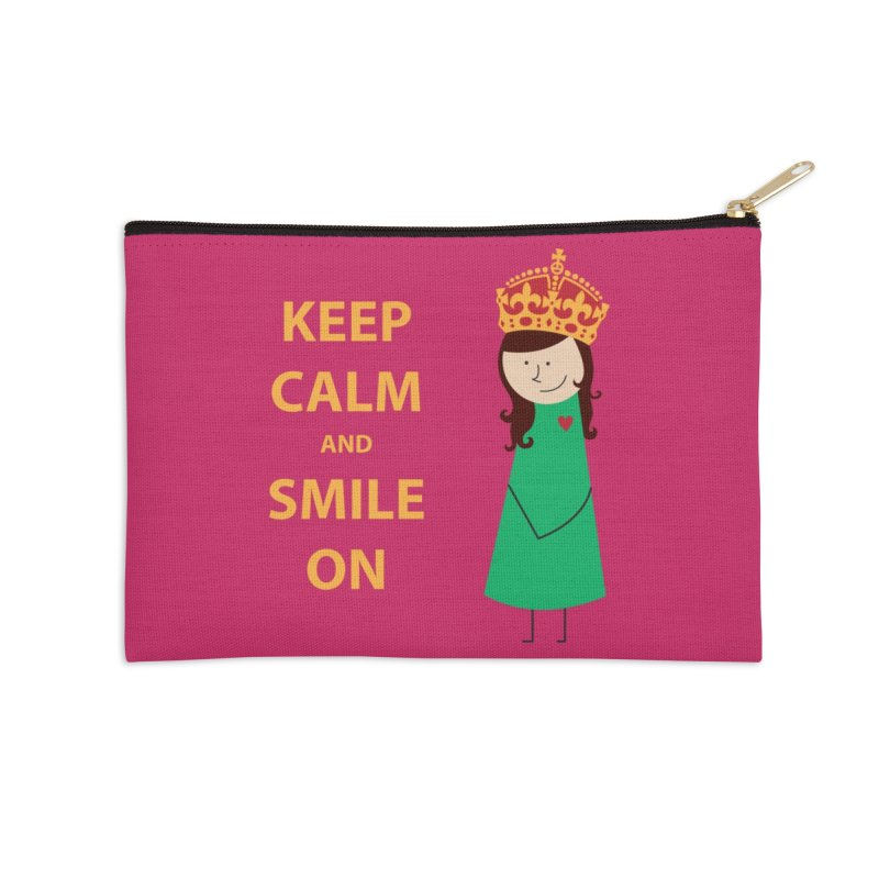 Smile On Accessories Zip Pouch by {mostly} Smiling Sticks