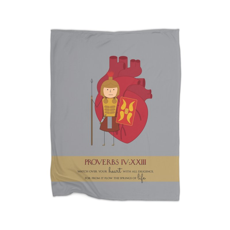 Guard Your Heart Home Fleece Blanket Blanket by {mostly} Smiling Sticks