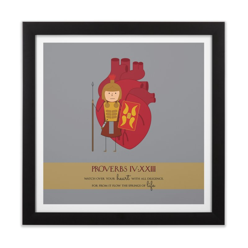 Guard Your Heart Home Framed Fine Art Print by {mostly} Smiling Sticks