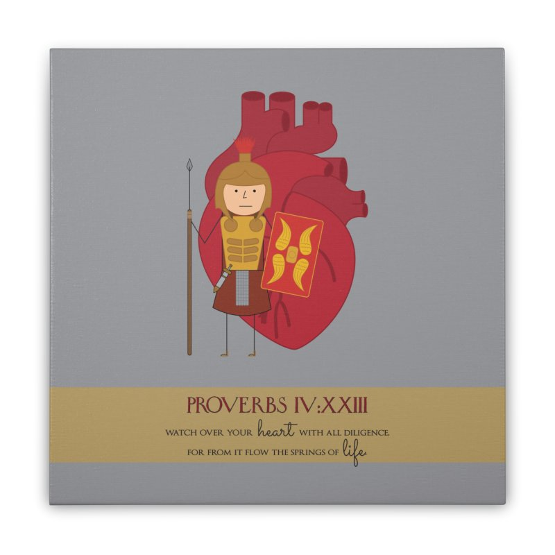 Guard Your Heart Home Stretched Canvas by {mostly} Smiling Sticks