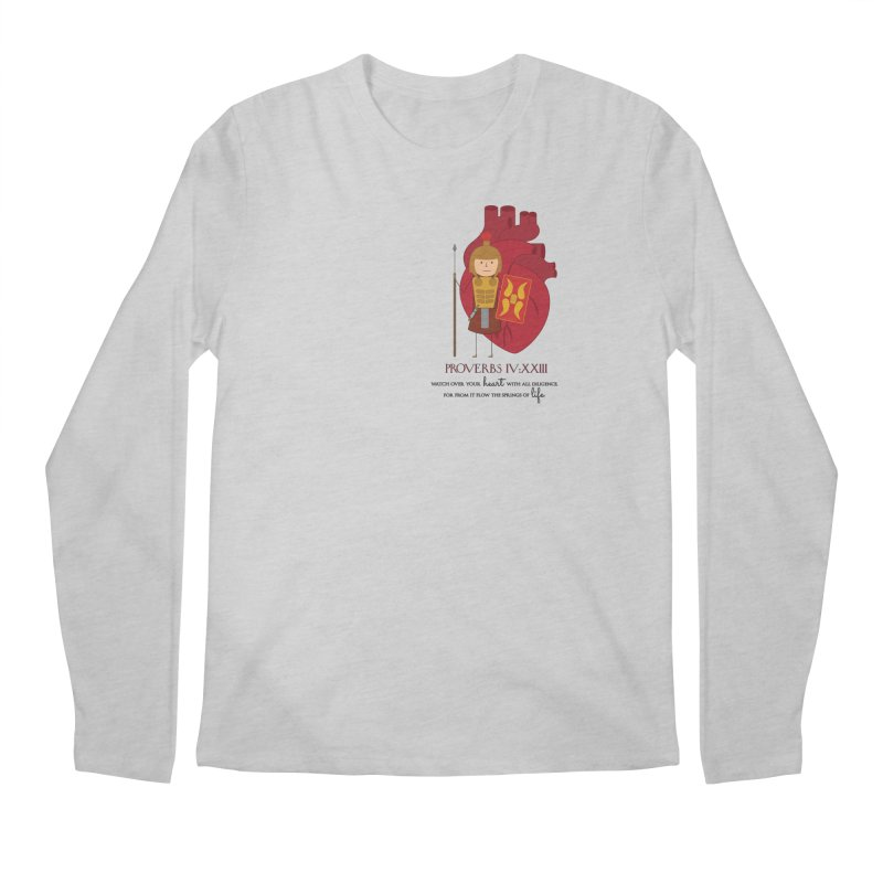 Guard Your Heart Men's Longsleeve T-Shirt by {mostly} Smiling Sticks