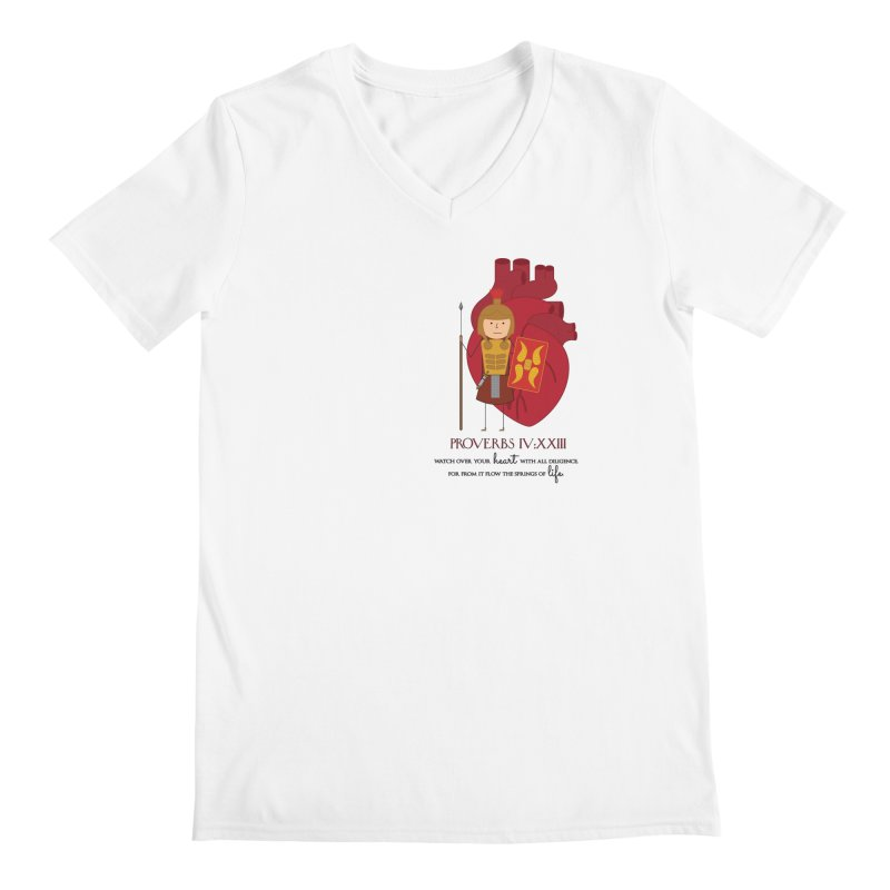 Guard Your Heart Men's V-Neck by {mostly} Smiling Sticks