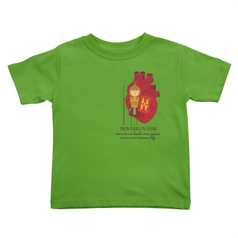 Guard Your Heart Kids Toddler T-Shirt by {mostly} Smiling Sticks