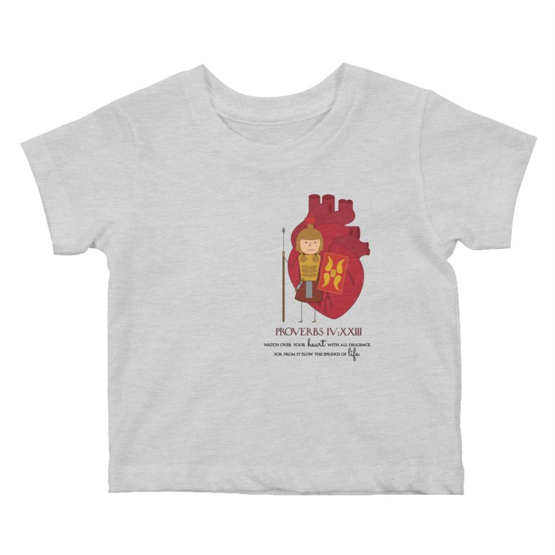 Guard Your Heart Kids Baby T-Shirt by {mostly} Smiling Sticks