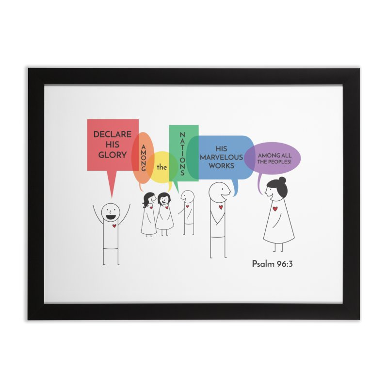 Talk of the Town Home Framed Fine Art Print by {mostly} Smiling Sticks