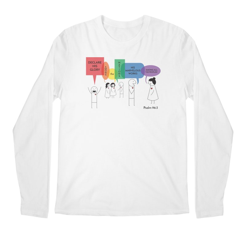 Talk of the Town Men's Longsleeve T-Shirt by {mostly} Smiling Sticks
