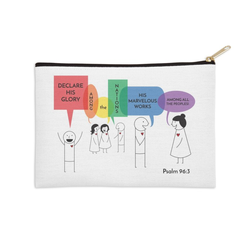 Talk of the Town Accessories Zip Pouch by {mostly} Smiling Sticks