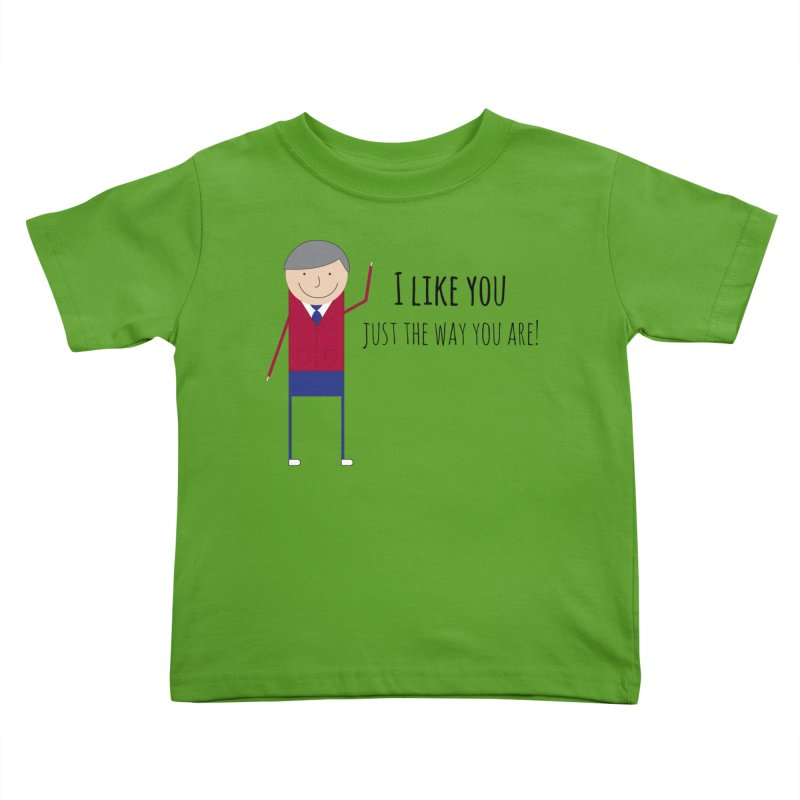 Mr. Rogers Kids Toddler T-Shirt by {mostly} Smiling Sticks