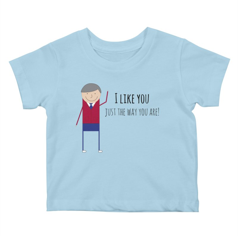 Mr. Rogers Kids Baby T-Shirt by {mostly} Smiling Sticks