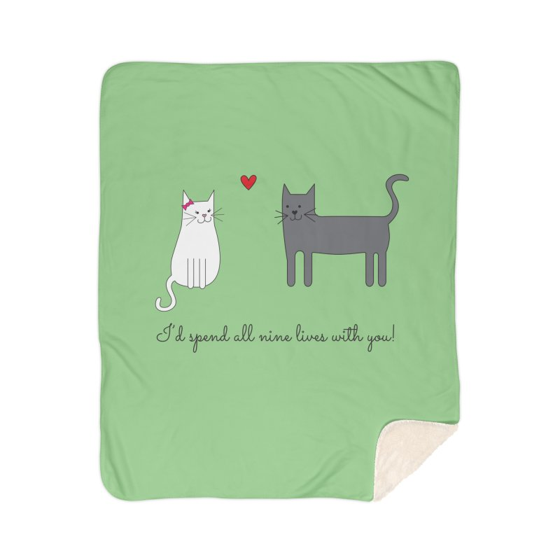 Nine Lives Home Sherpa Blanket Blanket by {mostly} Smiling Sticks