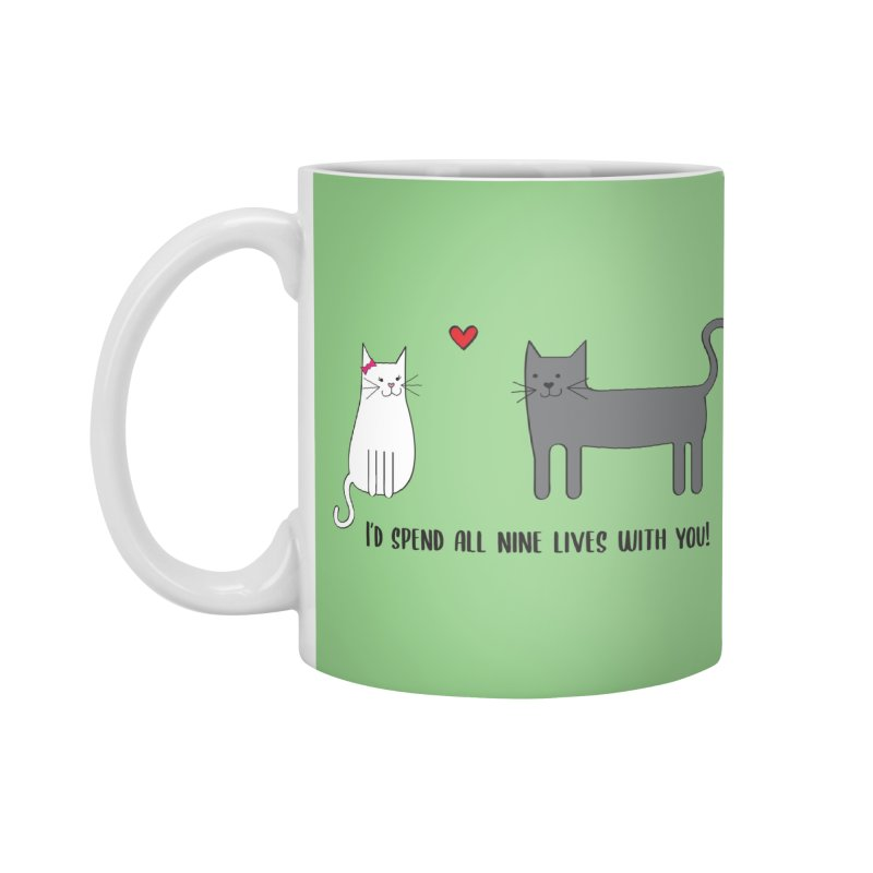 Nine Lives Accessories Mug by {mostly} Smiling Sticks