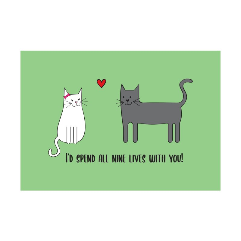 Nine Lives Home Fine Art Print by {mostly} Smiling Sticks