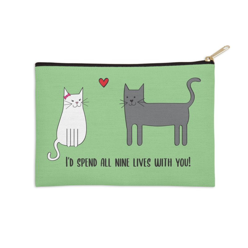 Nine Lives Accessories Zip Pouch by {mostly} Smiling Sticks
