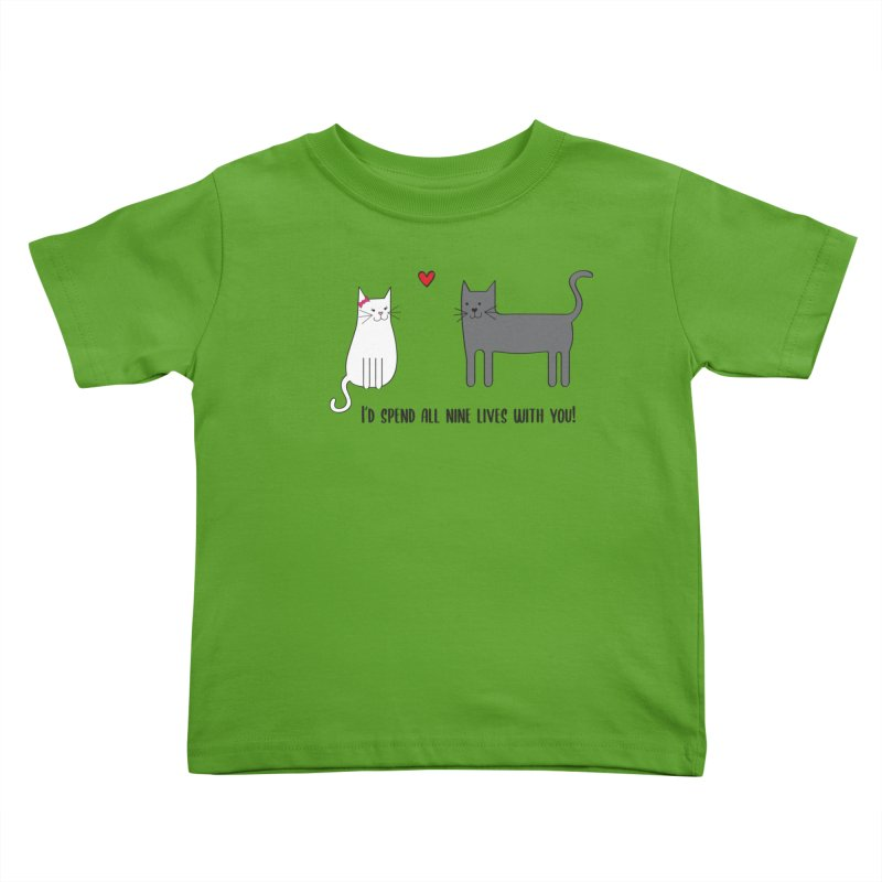 Nine Lives Kids Toddler T-Shirt by {mostly} Smiling Sticks