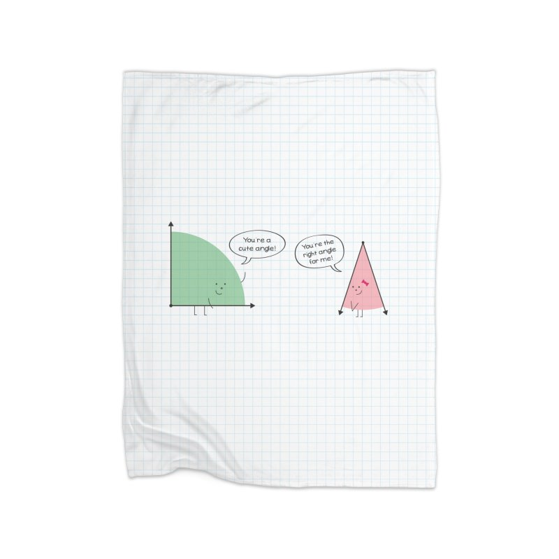 Angles Home Fleece Blanket Blanket by {mostly} Smiling Sticks