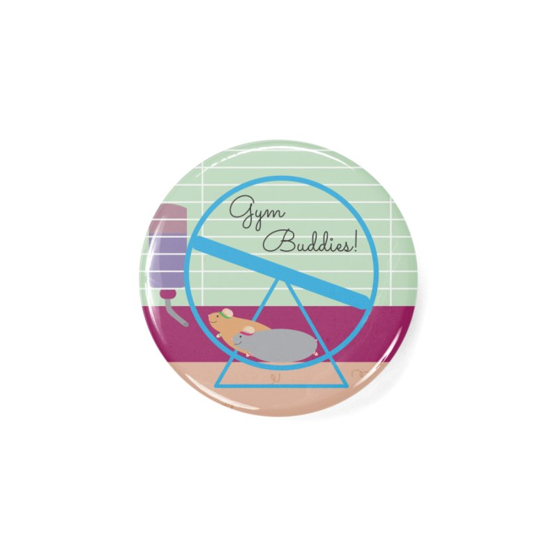 Gym Buddies Accessories Button by {mostly} Smiling Sticks