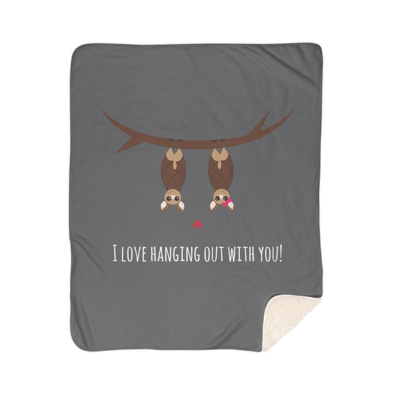 Hanging Out Home Sherpa Blanket Blanket by {mostly} Smiling Sticks