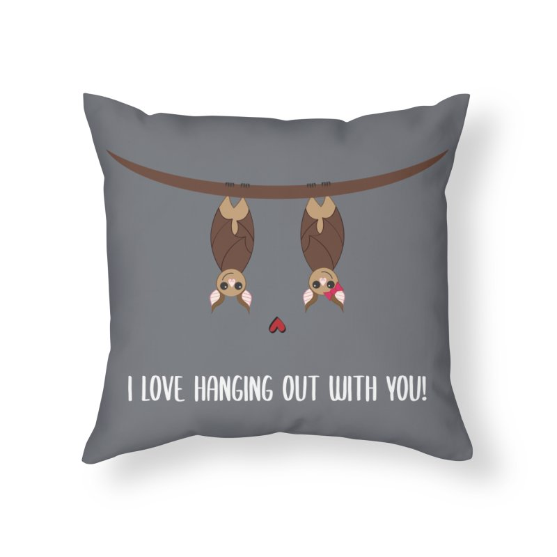 Hanging Out Home Throw Pillow by {mostly} Smiling Sticks
