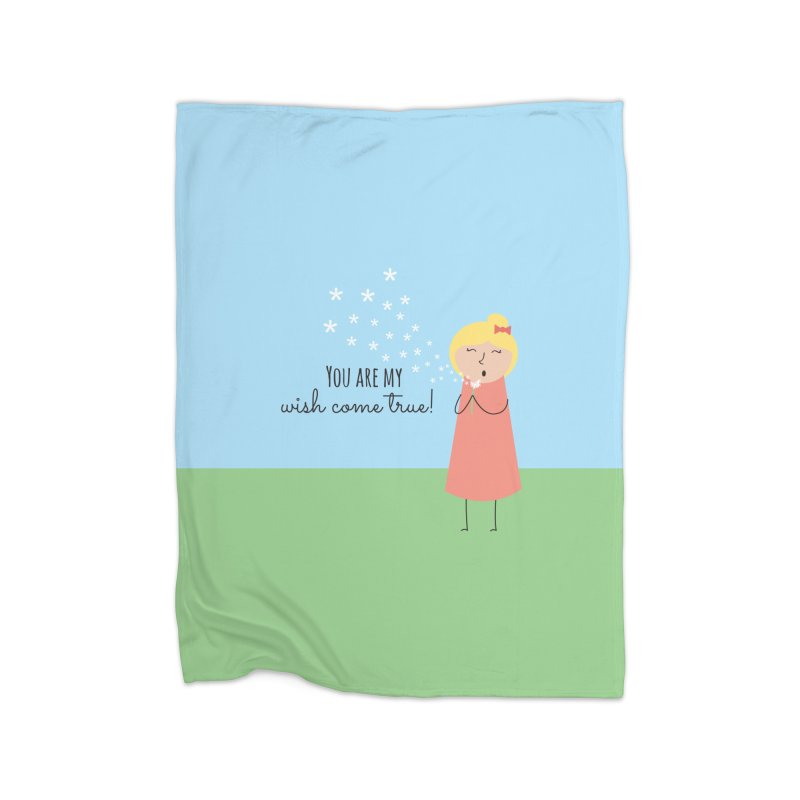 Wish Come True Home Fleece Blanket Blanket by {mostly} Smiling Sticks