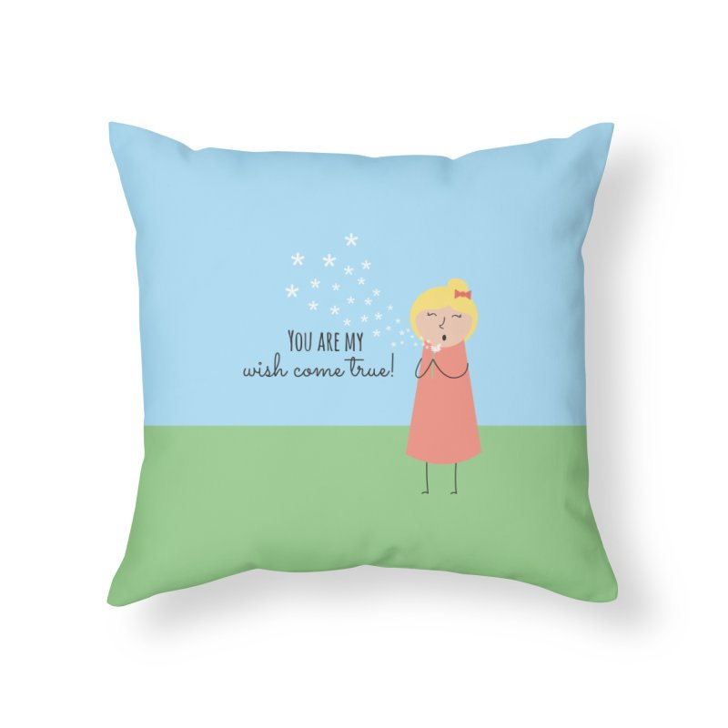 Wish Come True Home Throw Pillow by {mostly} Smiling Sticks