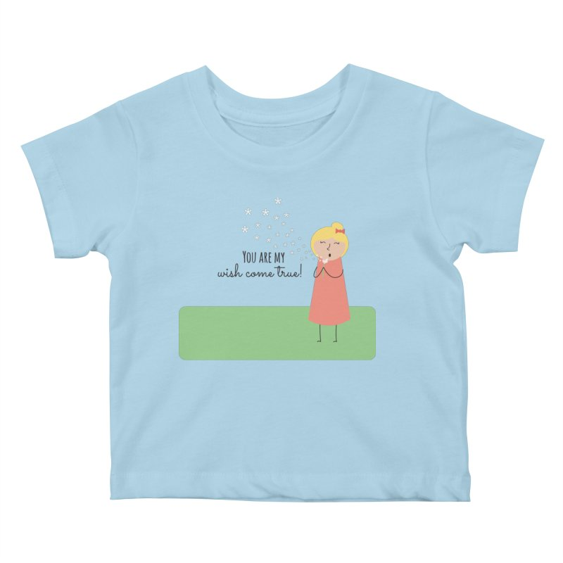 Wish Come True Kids Baby T-Shirt by {mostly} Smiling Sticks