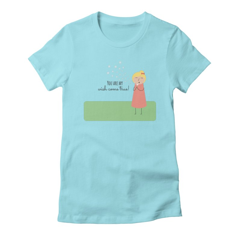 Wish Come True Women's Fitted T-Shirt by {mostly} Smiling Sticks