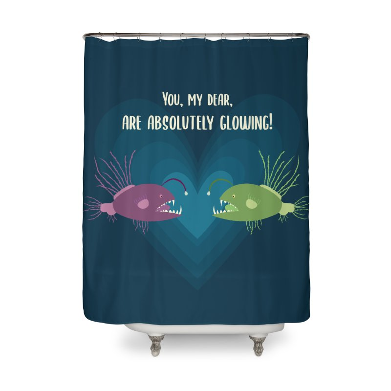 Glowing Home Shower Curtain by {mostly} Smiling Sticks