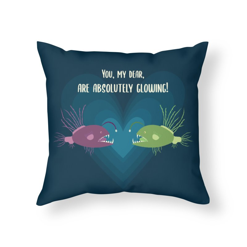 Glowing Home Throw Pillow by {mostly} Smiling Sticks