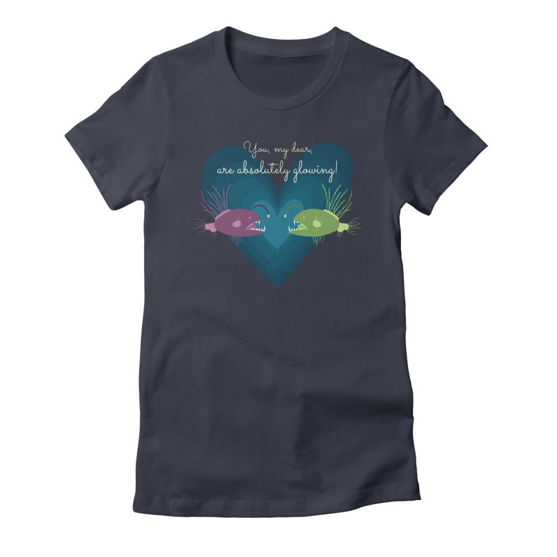 Glowing Women's Fitted T-Shirt by {mostly} Smiling Sticks