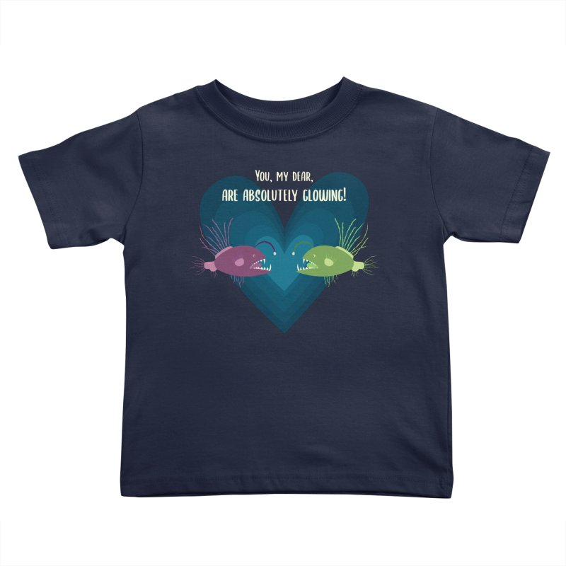 Glowing Kids Toddler T-Shirt by {mostly} Smiling Sticks