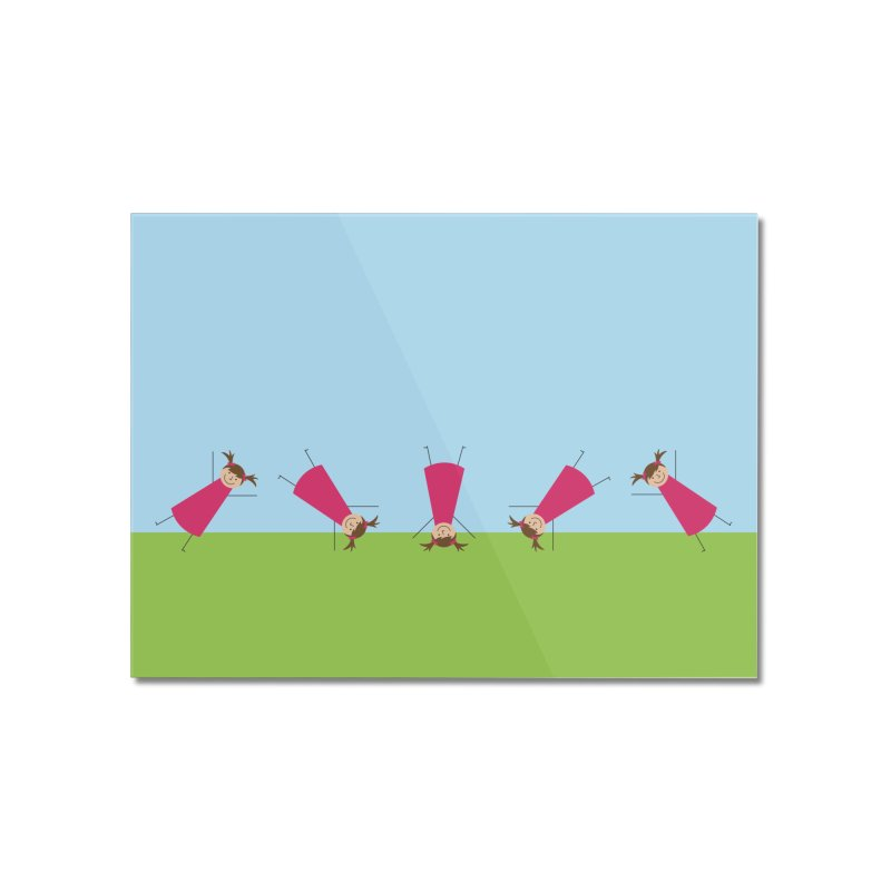 Cartwheels Home Mounted Acrylic Print by {mostly} Smiling Sticks