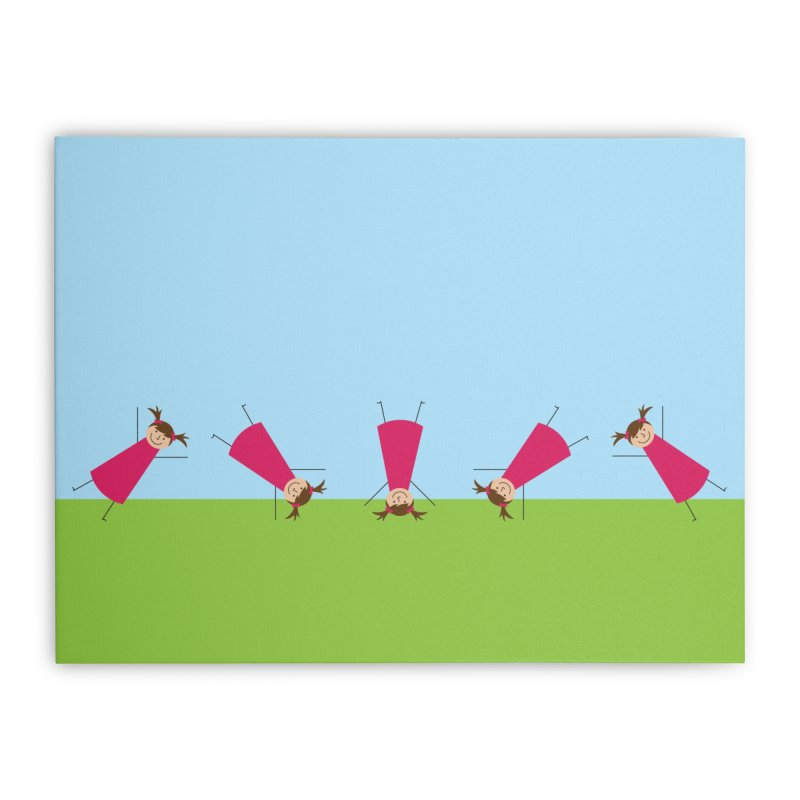 Cartwheels Home Stretched Canvas by {mostly} Smiling Sticks