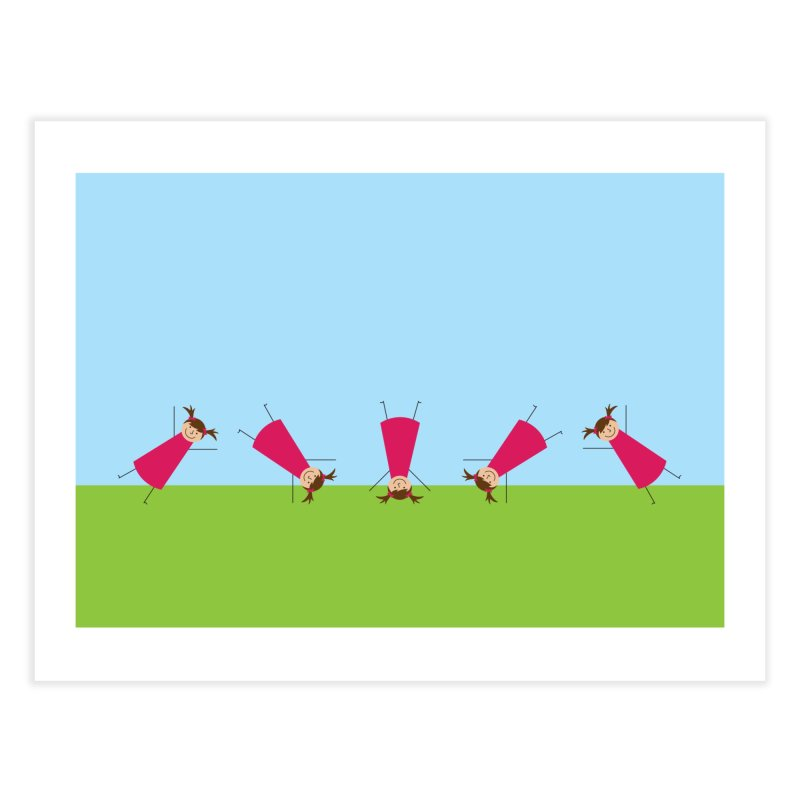 Cartwheels Home Fine Art Print by {mostly} Smiling Sticks