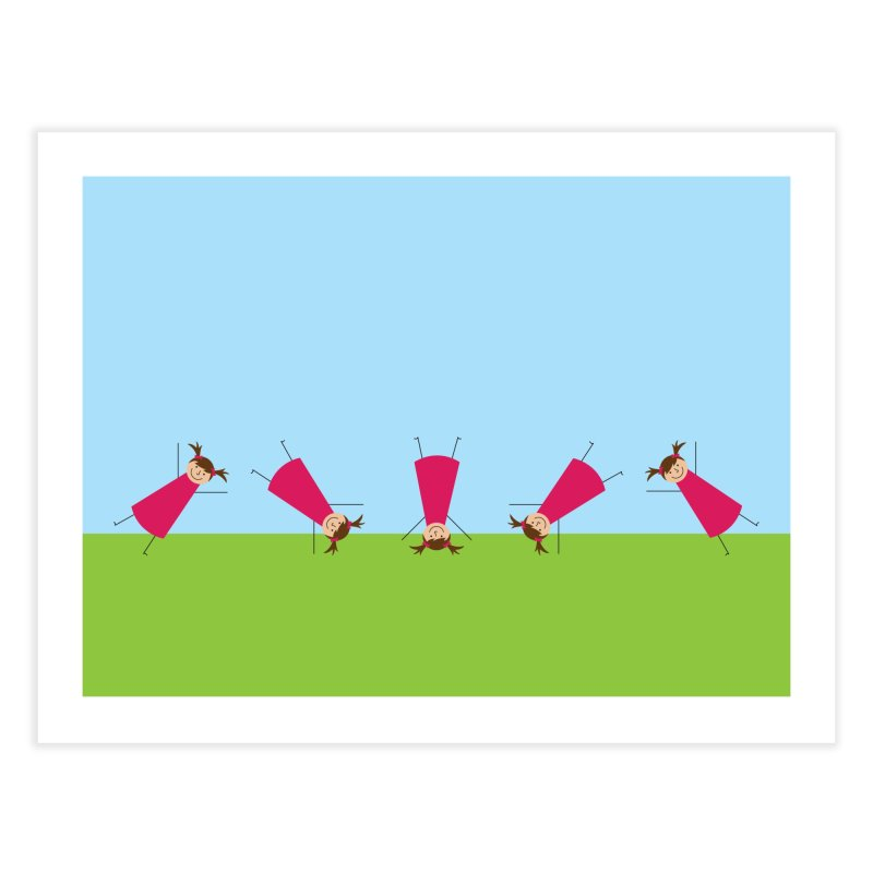 Cartwheels Home Fine Art Print by {mostly} Smiling Sticks
