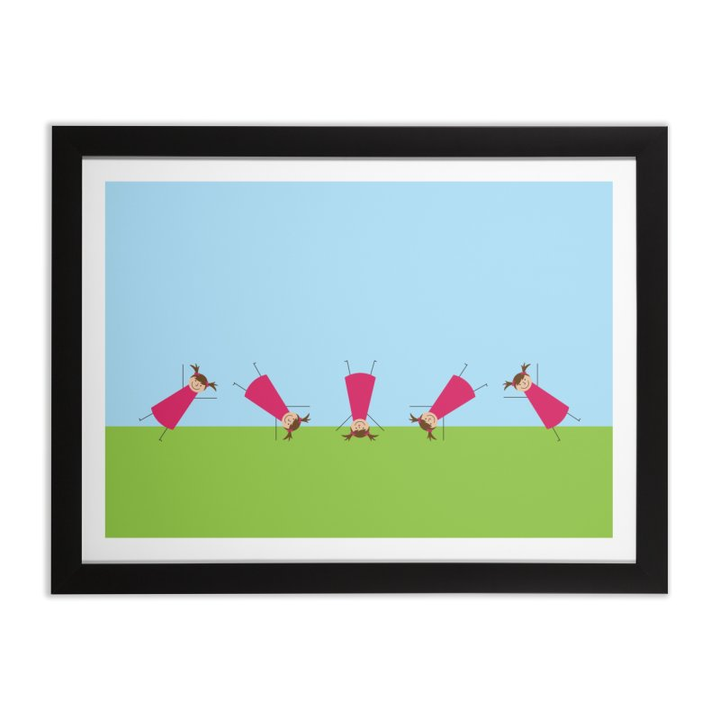 Cartwheels Home Framed Fine Art Print by {mostly} Smiling Sticks