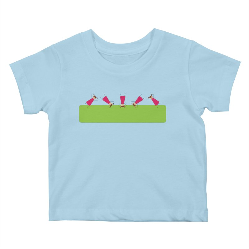 Cartwheels Kids Baby T-Shirt by {mostly} Smiling Sticks