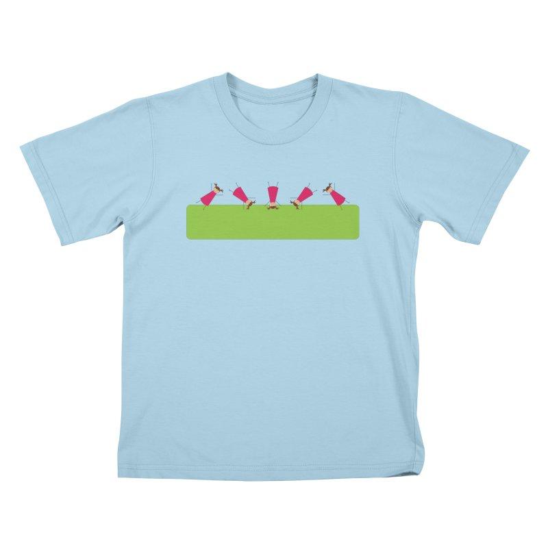 Cartwheels Kids T-Shirt by {mostly} Smiling Sticks