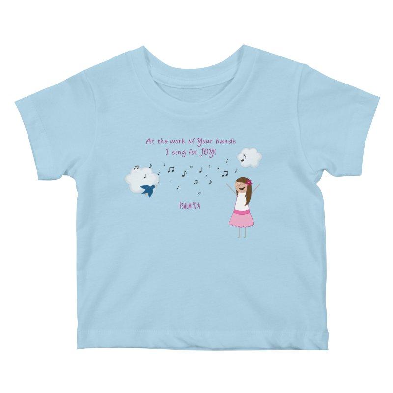 Joy! Kids Baby T-Shirt by {mostly} Smiling Sticks