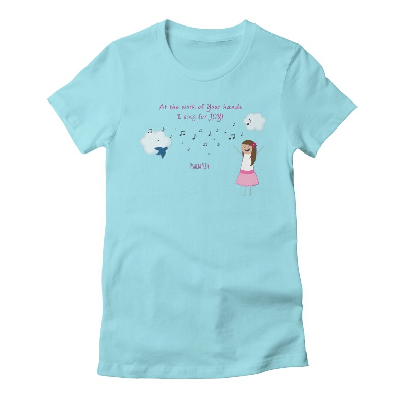 Joy! Women's Fitted T-Shirt by {mostly} Smiling Sticks