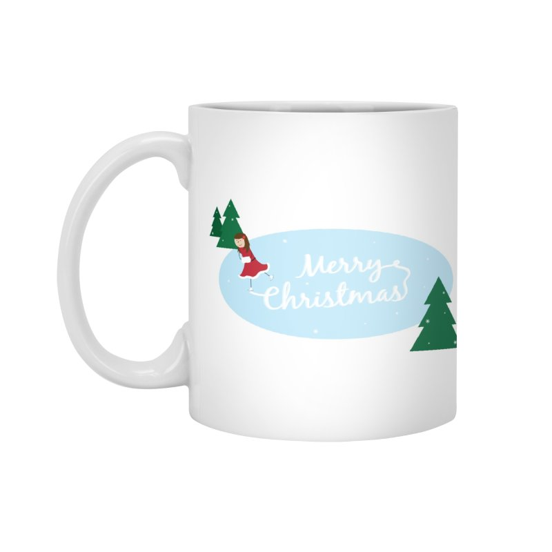 Christmas Ice Skater Accessories Mug by {mostly} Smiling Sticks