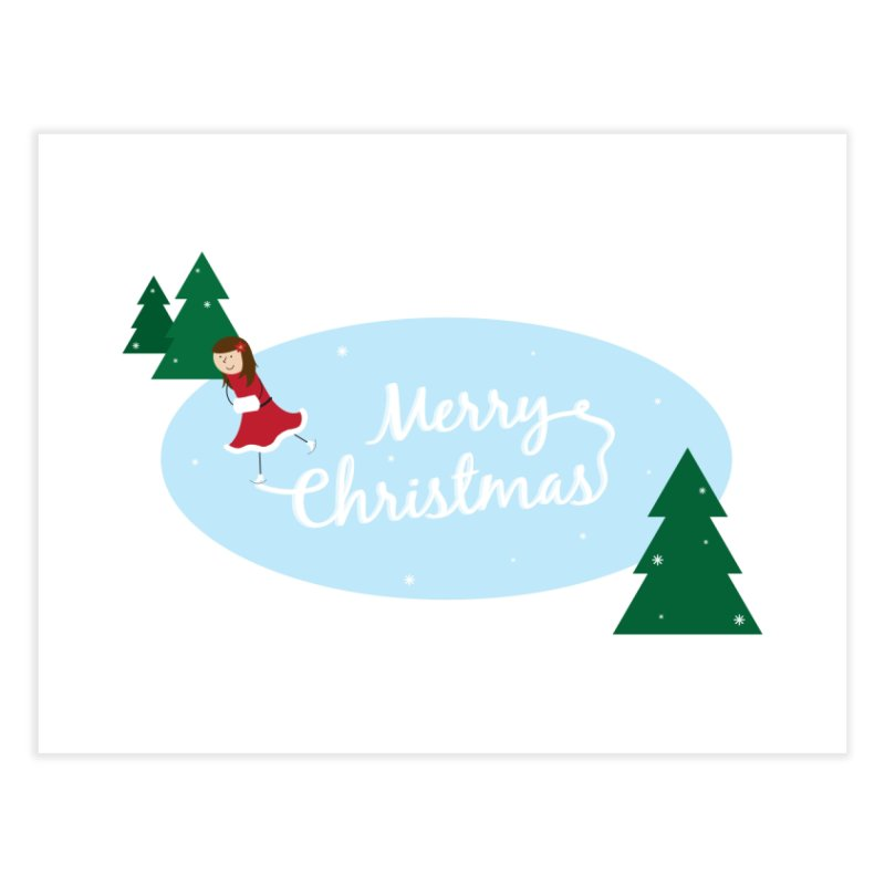 Christmas Ice Skater Home Fine Art Print by {mostly} Smiling Sticks