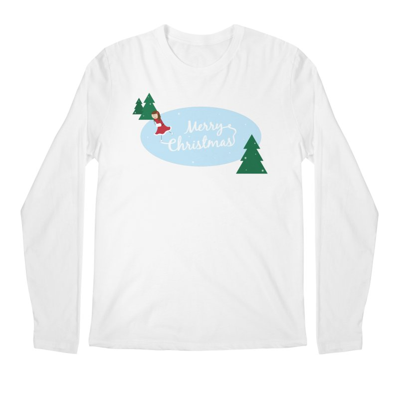 Christmas Ice Skater Men's Longsleeve T-Shirt by {mostly} Smiling Sticks
