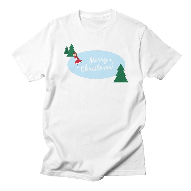 Christmas Ice Skater Women's Regular Unisex T-Shirt by {mostly} Smiling Sticks