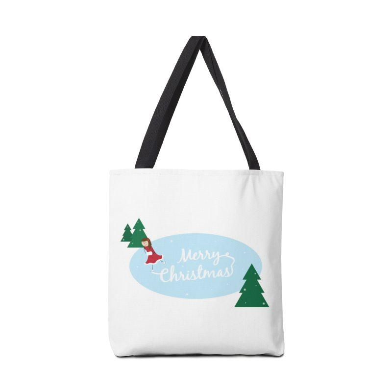 Christmas Ice Skater Accessories Bag by {mostly} Smiling Sticks