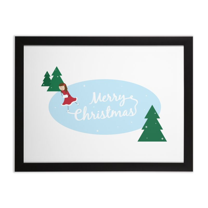 Christmas Ice Skater Home Framed Fine Art Print by {mostly} Smiling Sticks