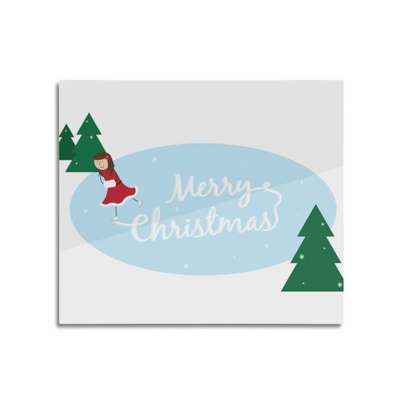 Christmas Ice Skater Home Mounted Aluminum Print by {mostly} Smiling Sticks