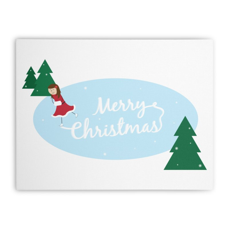 Christmas Ice Skater Home Stretched Canvas by {mostly} Smiling Sticks